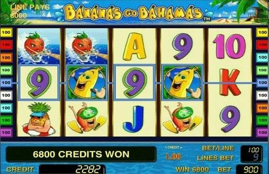 Выигрышная комбинация автомата Bananas go Bahamas