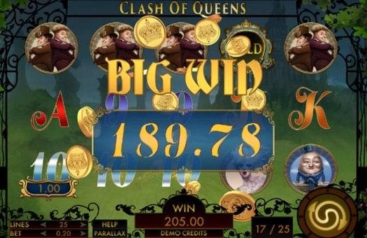 Крупный выигрыш в автомате Clash of Queens