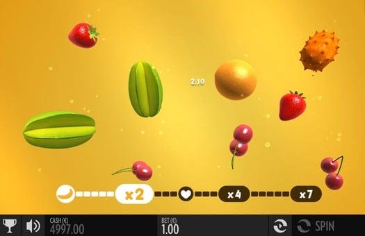 Бонусная игра автомата Fruit Warp