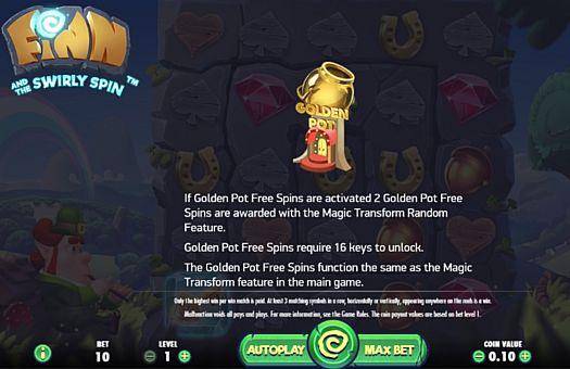 Правила фриспинов в игре Finn and the Swirly Spin