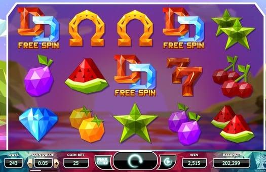 Выигрыш фриспинов в игровом автомате Doubles