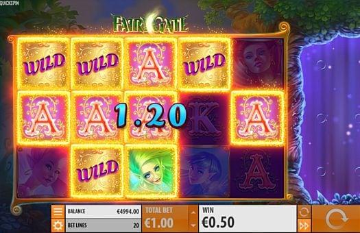 Призовая комбинация символов в игровом автомате Fairy Gate