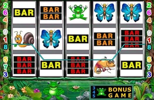 Комбинация пиктограмм на барабанах игрового автомата Fairy Land 2