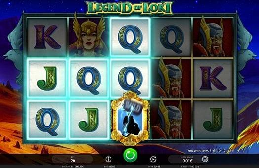 Призовая комбинация на линии в игровом автомате Legend of Loki