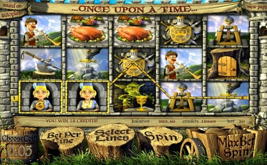 Призовая комбинация в игровом автомате Once Upon a Time