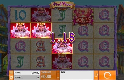 Призовая комбинация на линии в игровом автомате Pied Piper