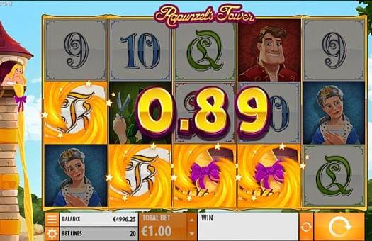 Призовая комбинация на линии в игровом автомате Rapunzel's Tower