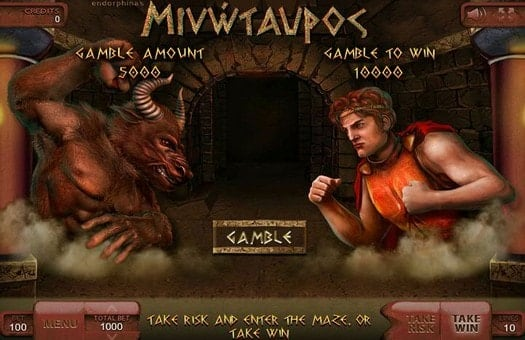 Игра на удвоение онлайн аппарата Minotaurus