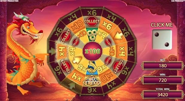 Бонусная игра в онлайн автомате Koi Princess