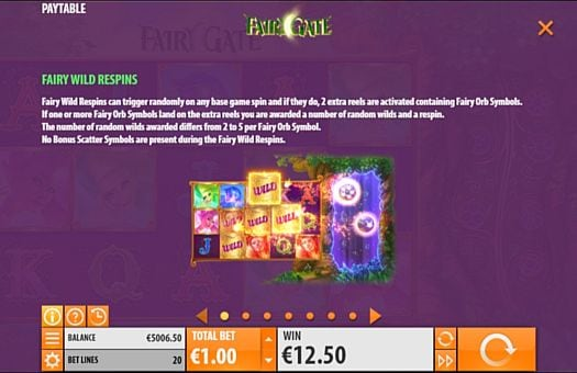 Респины в онлайн слоте Fairy Gate