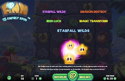 Игровые бонусы в онлайн слоте Finn and the Swirly Spin