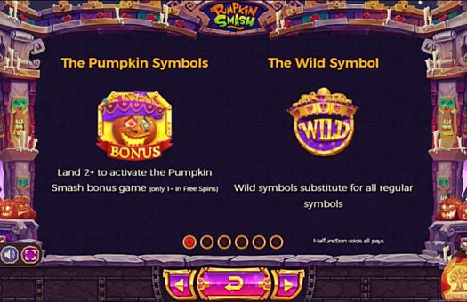 Символы в Bonus и Wild в онлайн слоте Pumpkin Smash