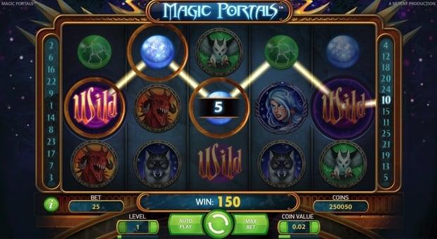 Выигрышная комбинация с Wild в слоте Magic Portals